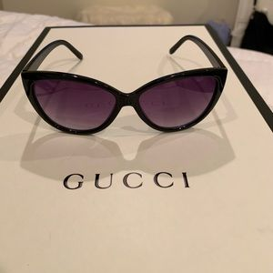 Betsy Johnson BLACK Cat Eye Sunglasses